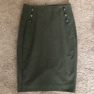 The Limited Olive Green Pencil Skirt
